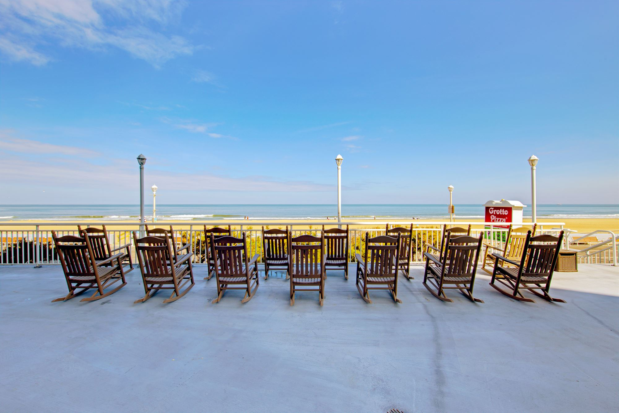 Oceanfront Desk at the Commander Hotel in Ocean City Maryland